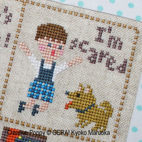 Little Peter cross stitch pattern by GERA! Kyoko Maruoka, zoom3