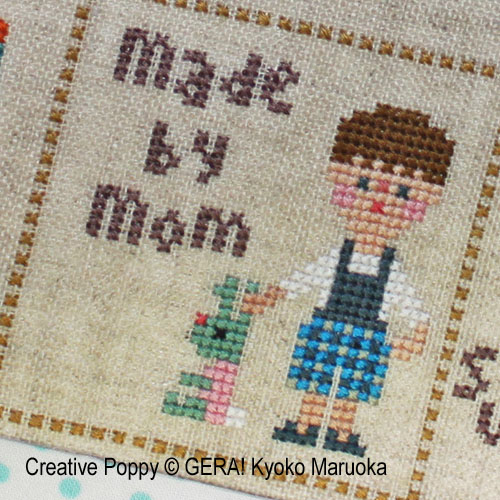 Little Peter cross stitch pattern by GERA! Kyoko Maruoka, zoom1
