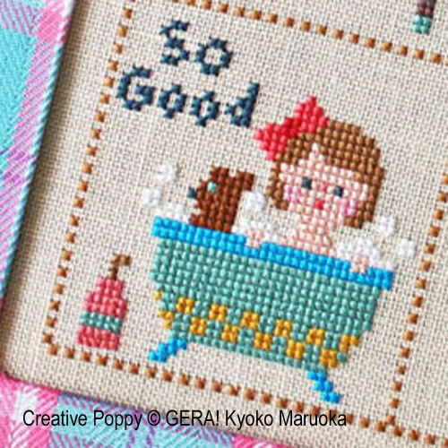 Little Klara cross stitch pattern by GERA! Kyoko Maruoka, zoom1