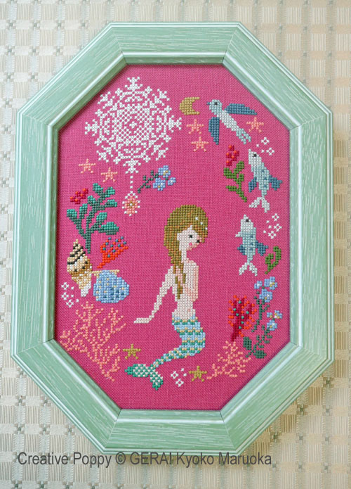 The Little Mermaid cross stitch pattern by GERA! Kyoko Maruoka
