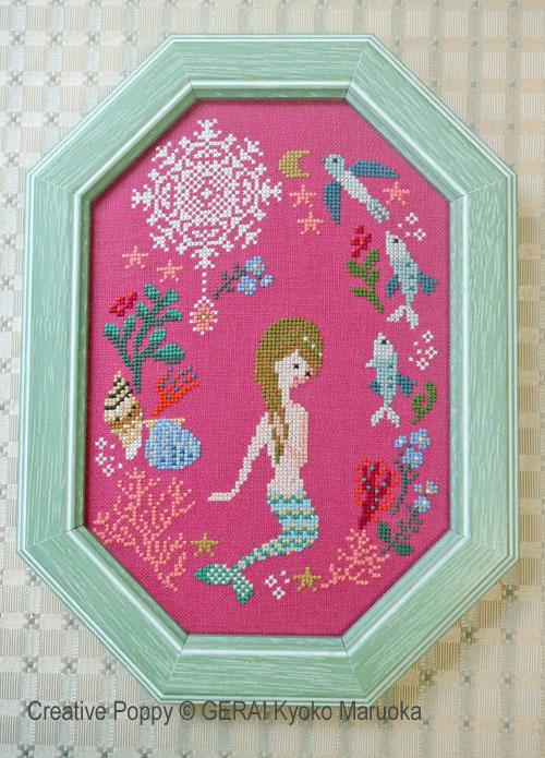 The Little Mermaid cross stitch pattern by GERA! Kyoko Maruoka
