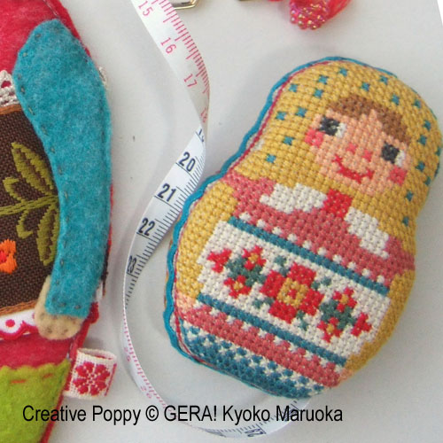 Matryoshka Needlework set cross stitch pattern by GERA! by Kyoko Maruoka, zoom 3