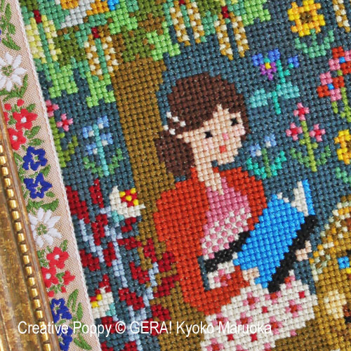 Pride & Prejudice cross stitch pattern by GERA! Kyoko Maruoka, zoom 1