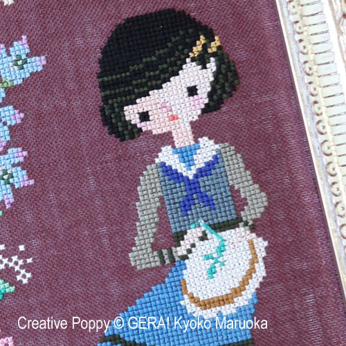 Roses Embroidery cross stitch pattern by GERA! Kyoko Maruoka, zoom 1