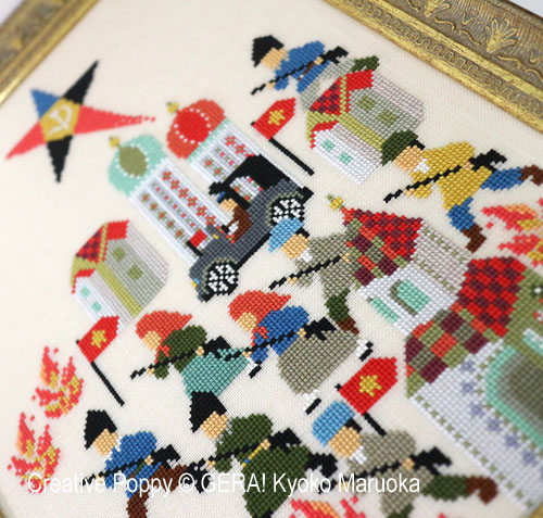 Russian Revolution (1917) cross stitch pattern by GERA! Kyoko Maruoka, zoom 1