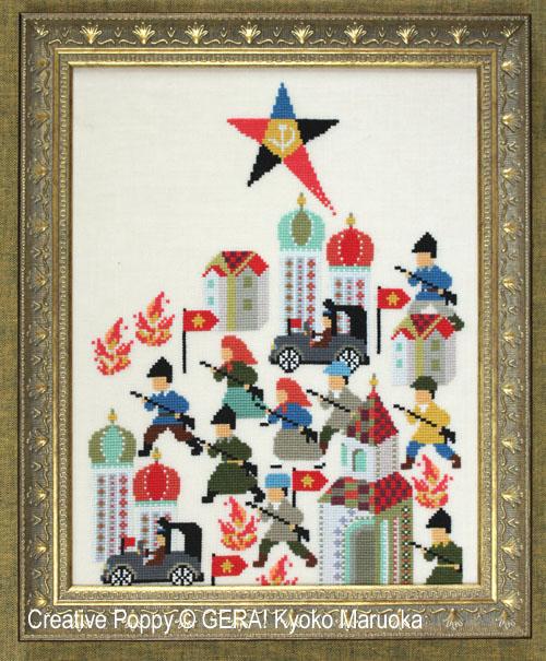 Russian Revolution (1917) cross stitch pattern by GERA! Kyoko Maruoka