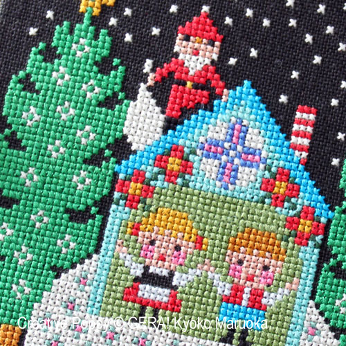Santa has come - I cross stitch pattern by GERA! by Kyoko Maruoka