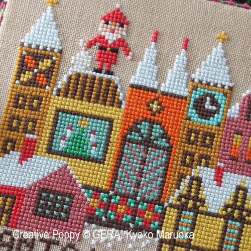 Santa has come - II cross stitch pattern by GERA! by Kyoko Maruoka, zoom 1
