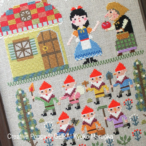 Snow White cross stitch pattern by GERA! by Kyoko Maruoka, zoom 1