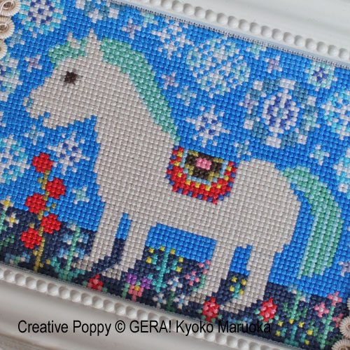 Early spring cross stitch pattern by GERA! by Kyoko Maruoka