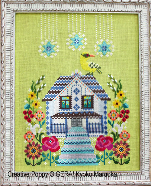 The House with the mezzanine cross stitch pattern by GERA! Kyoko Maruoka