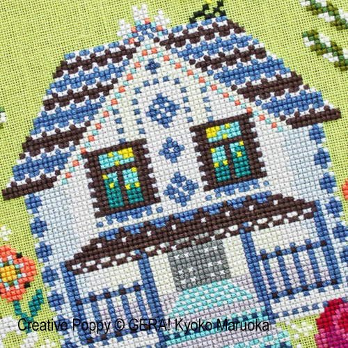The House with the mezzanine cross stitch pattern by GERA! Kyoko Maruoka, zoom 1