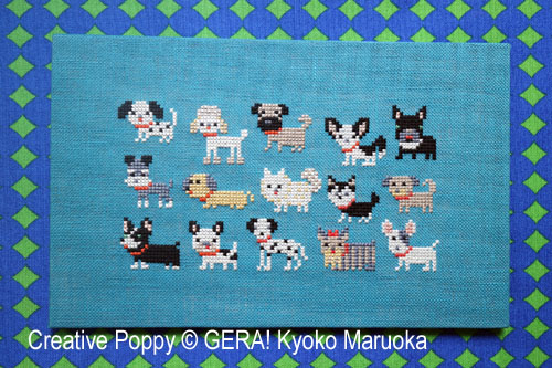 15 Dog Breeds - Series 1 cross stitch pattern by GERA! Kyoko Maruoka
