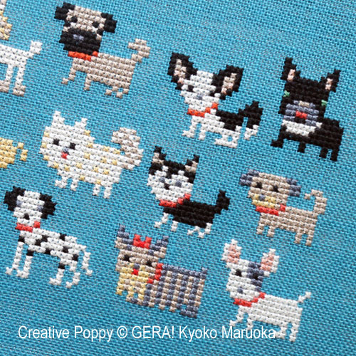 Dogs patterns to cross stitch