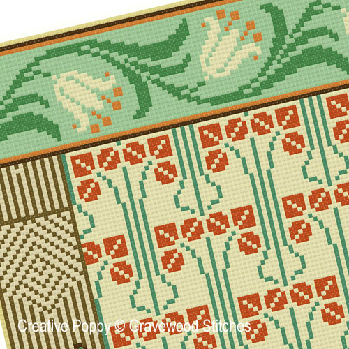 March - Aesthetic Sampler cross stitch pattern by Gracewood Stitches