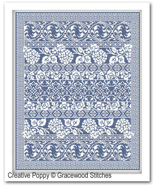 Moonlit Garden cross stitch pattern by Gracewood Stitches