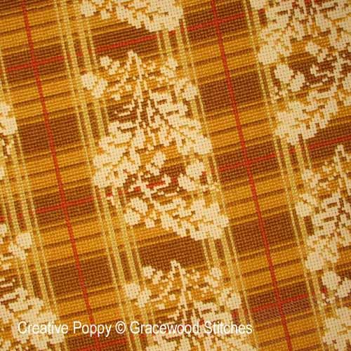 October - Homespun Oak cross stitch pattern by Gracewood Stitches