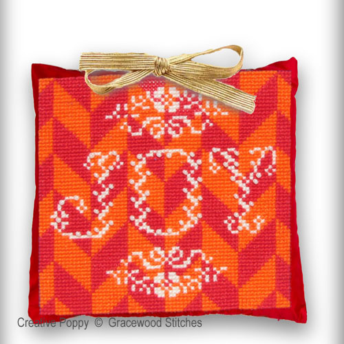 Stained Glass Joy - Christmas Ornament cross stitch pattern by Gracewood Stitches