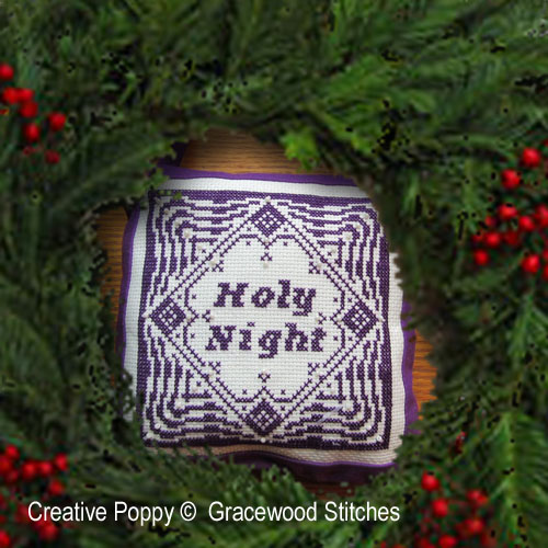 Holy night - Nativity ornament cross stitch pattern by Gracewood Stitches