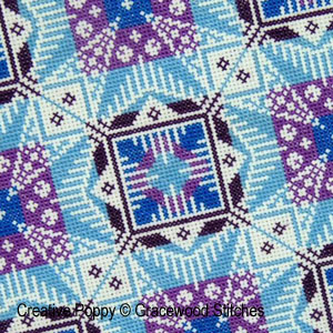 Kaleidoscope, counted cross stitch chart, designed by Gracewood Stitches
