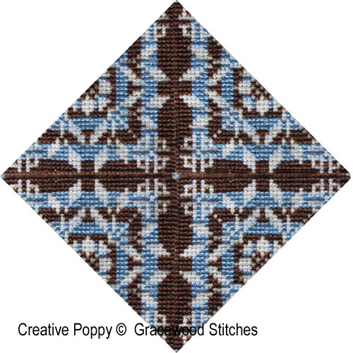Swatchables - Rondo (Motif & 3 Variations) cross stitch pattern by Gracewood Stitches, zoom1