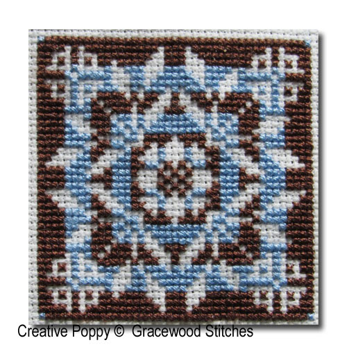 Swatchables - Rondo (Motif & 3 Variations) cross stitch pattern by Gracewood Stitches