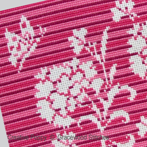 September - Carnations cross stitch pattern by Gracewood Stitches, zoom 1