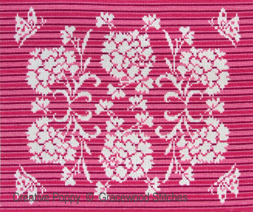September - Carnations cross stitch pattern by Gracewood Stitches
