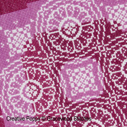 Traces of lace - Spun Plum cross stitch pattern by Gracewood Stitches