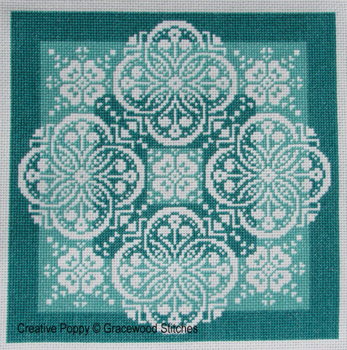 Shades of Jade (in the Traces of Lace series) cross stitch pattern by Gracewood Stitches