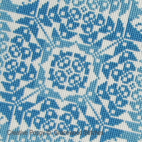 Tussie-Mussie cross stitch pattern by Gracewood Stitches