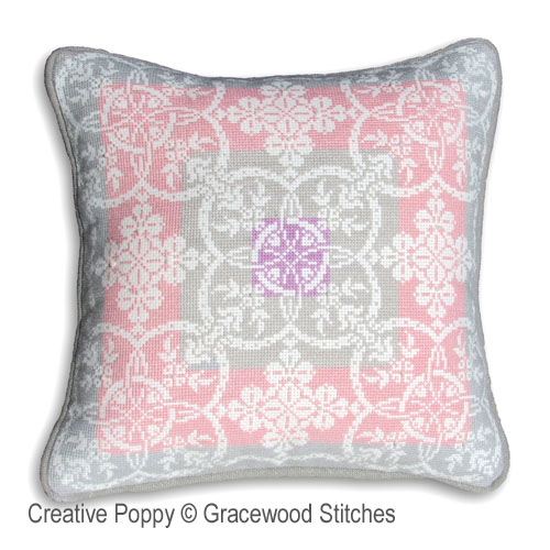 Gracewood Stitches - Winter Daybreak (Vintage textiles collection) (cross stitch chart)