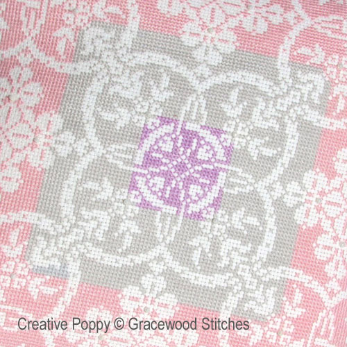 Gracewood Stitches - Winter Daybreak (Vintage textiles collection) zoom 1 (cross stitch chart)
