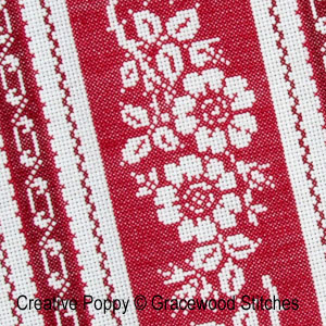 Gracewood Stitches - Alsace (Vintage Textile Collection) zoom 1 (cross stitch chart)