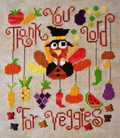 <b>Grateful Turkey</b><br>cross stitch pattern<br>by <b>Barbara Ana Designs</b>