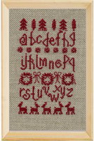 Scandinavian Christmas cross stitch pattern by Agnès Delage-Calvet