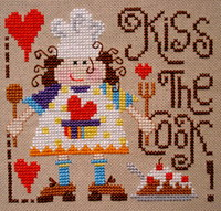 Kiss the cook! cross stitch pattern by Barbara Ana Designs, zoom 1