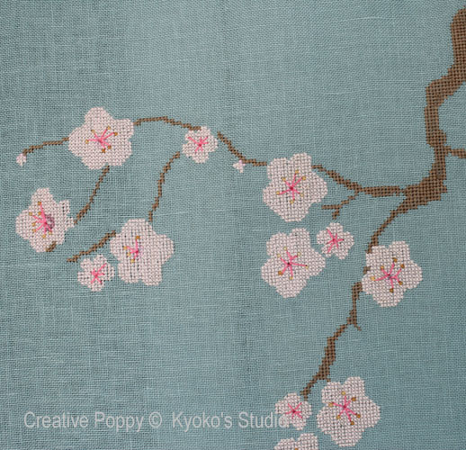 The Old Cherry Tree cross stitch pattern by Kyoko's Studio