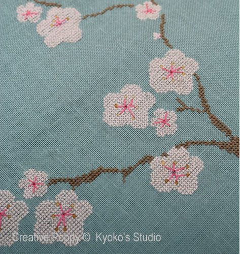 The Old Cherry Tree cross stitch pattern by Kyoko's Studio, zoom1