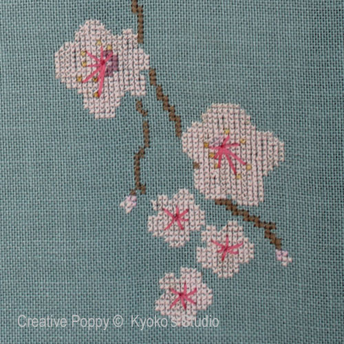 The Old Cherry Tree cross stitch pattern by Kyoko's Studio, zoom3