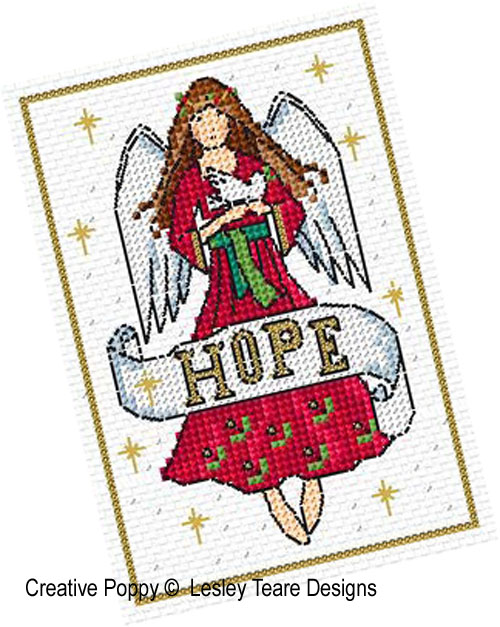 Lesley Teare Designs Christmas Angel Cards Cross Stitch Pattern