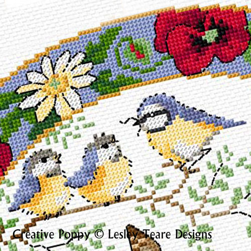 Lesley Teare Designs - Birds in summer (cross stitch chart)