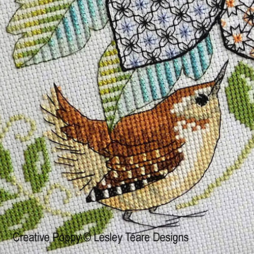 Birds cross stitch patterns designed by <b>Lesley Teare designs</b>