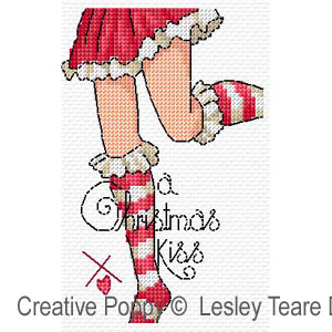 Christmas legs! cross stitch pattern by Lesley Teare Designs, zoom 1