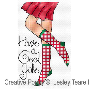 Christmas legs! cross stitch pattern by Lesley Teare Designs, zoom3