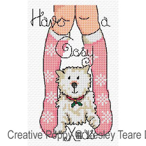 Christmas legs! cross stitch pattern by Lesley Teare Designs, zoom1