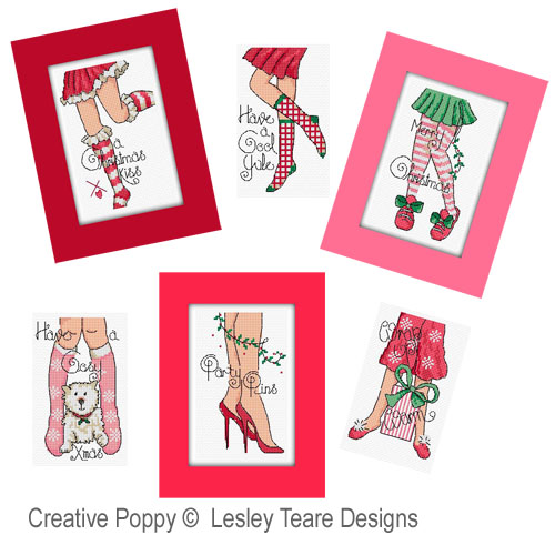 Christmas legs! cross stitch pattern by Lesley Teare Designs