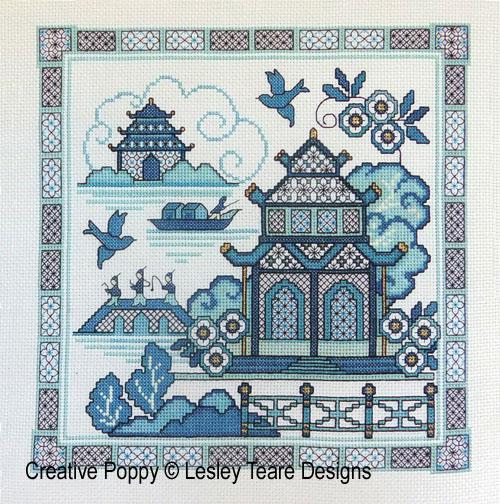 Blackwork Willow 1 cross stitch pattern by Lesley Teare Designs