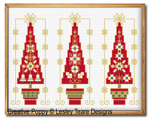 Lesley Teare Designs - Decorative Christmas Trees (cross stitch chart)