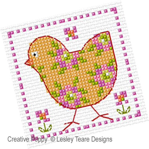 Floral Cuties cross stitch pattern by Lesley Teare Designs